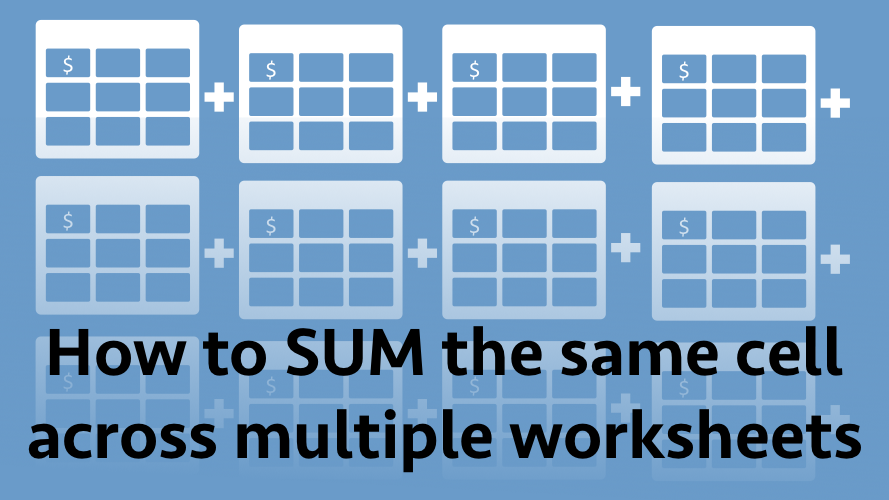 How to sum the same cell across multiple worksheets - Excel off the grid