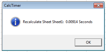 Excel VBA MicroTimer Message