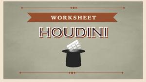 Excel Worksheet Houdini Addin