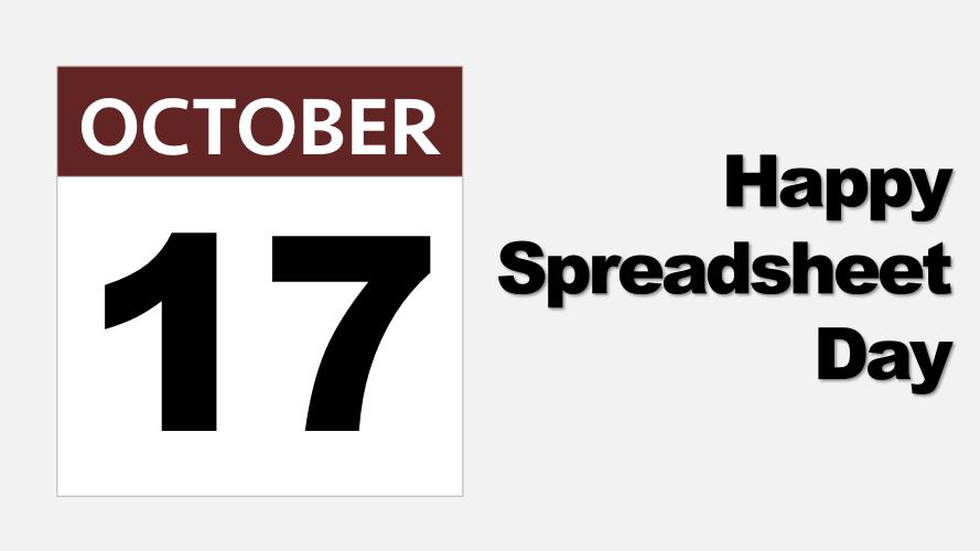 Spreadsheet Day 17 October