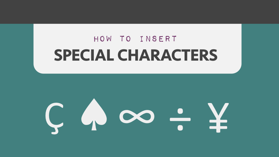 how-to-insert-special-characters