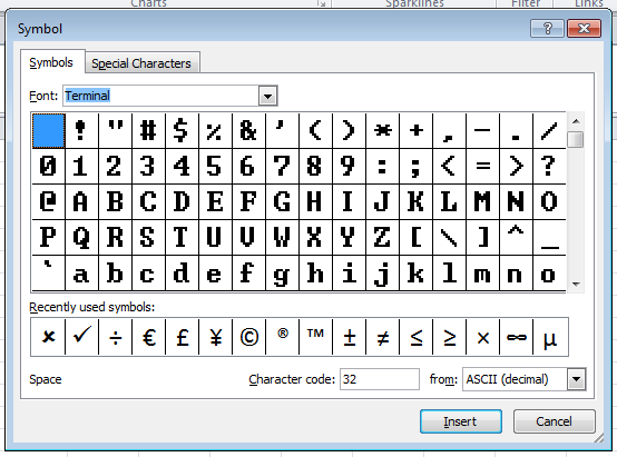 How To Insert Special Characters Cheat Sheet Download Excel Off