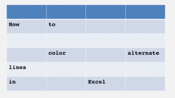 How to color alternate rows in Excel