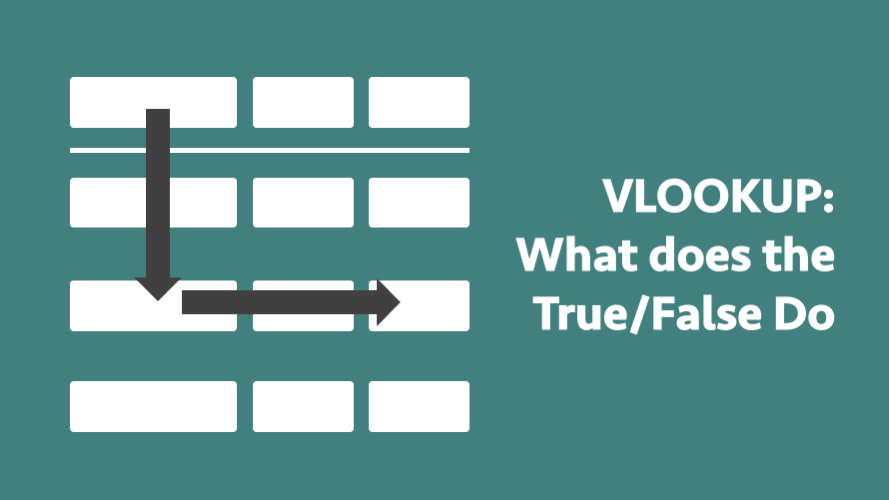 vlookup what does the true or false do