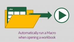 Automatically run Macro when opening a workbook