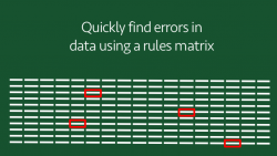 Find data errors quickly with a rules matrix