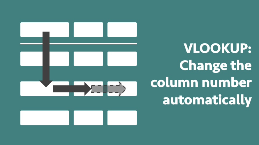 VLOOKUP change column number automatically a