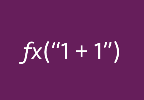turn a string into a formula with evaluate