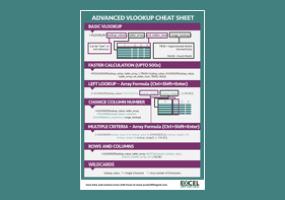 Advanced VLOOKUP Cheat Sheet