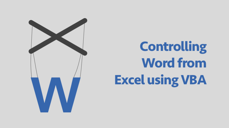 Contolling Word form Excel using VBA