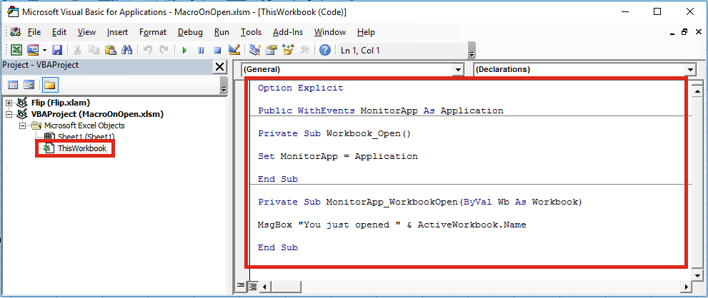 Automatically run a macro when opening a workbook excel off the grid run macro on any workbook open ibookread Download