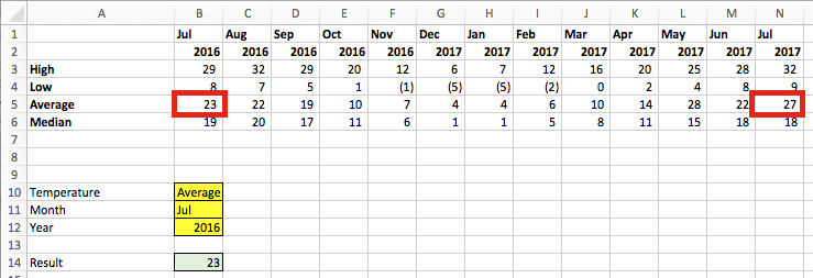 VLOOKUP combined MATCH (array)