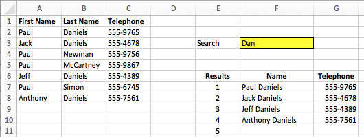 VLOOKUP return all matches example 1