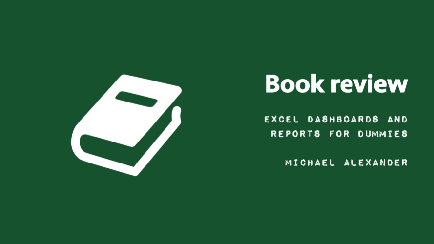 Book review - Excel Dashboards And Reports for Dummies