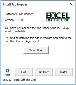 Tab Hopper Install Options