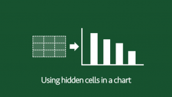Use hidden cells in a chart