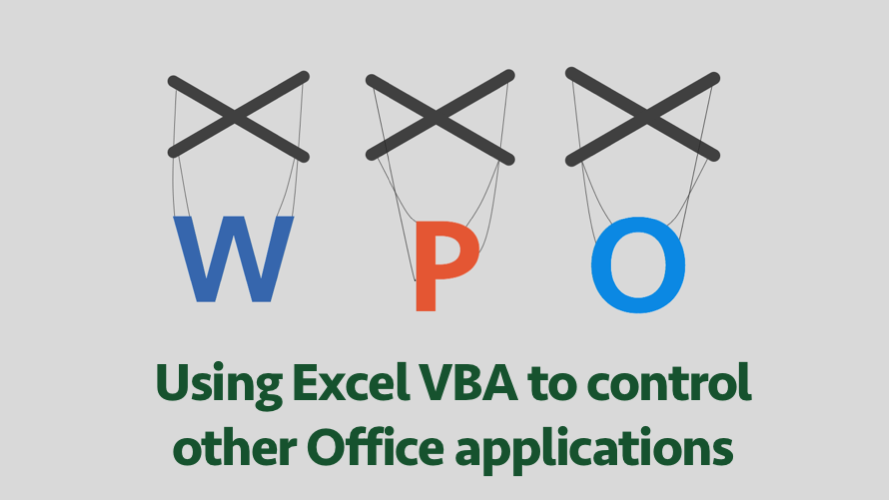 Using Excel VBA to Control Office