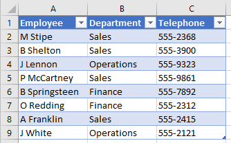 VLOOKUP Auto Expand New Table