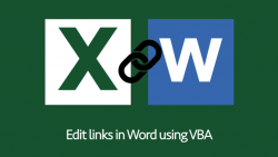Edit link in Word using VBA