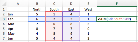 Excel cell ranges - Intersection Operator Combined