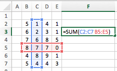 Excel cell ranges - Intersection Operator Range