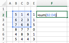 Excel cell ranges - Range Operator