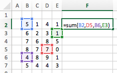 Excel cell ranges - Union Operator random cells