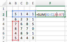 Excel cell ranges - Union Operator two ranges