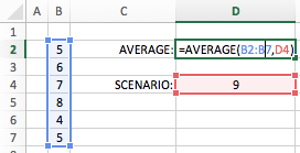 Excel cell ranges - Union operator what if