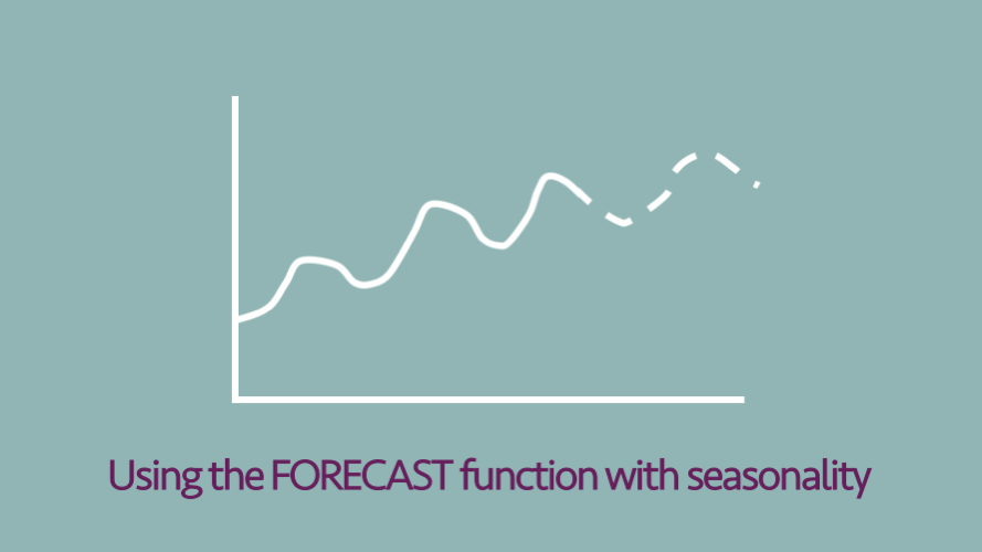 Using the FORECAST function with seasonality - Excel off the