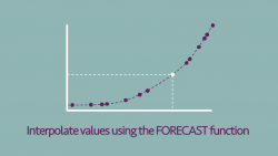 Interpolate using FORECAST