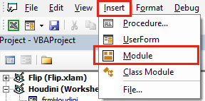 Get Workbook Name Insert Module