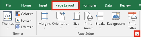 Get Workbook Name Page Setup