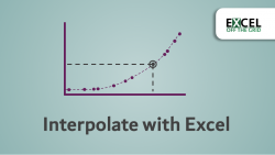 Interpolate with Excel - Featured Image