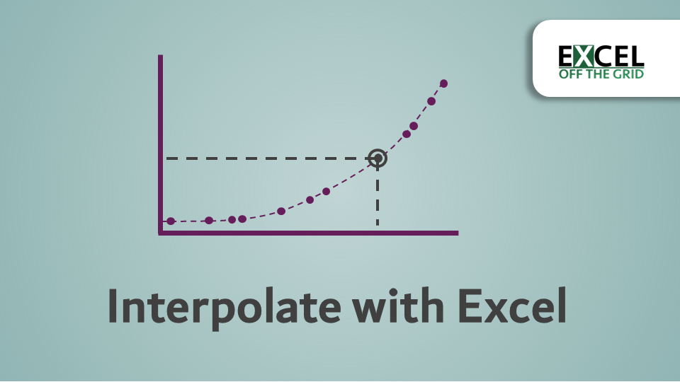 Interpolate with Excel