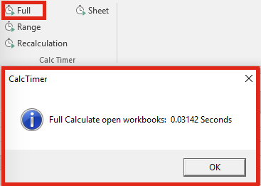 Ribbon Editor - Calculation Timer Working