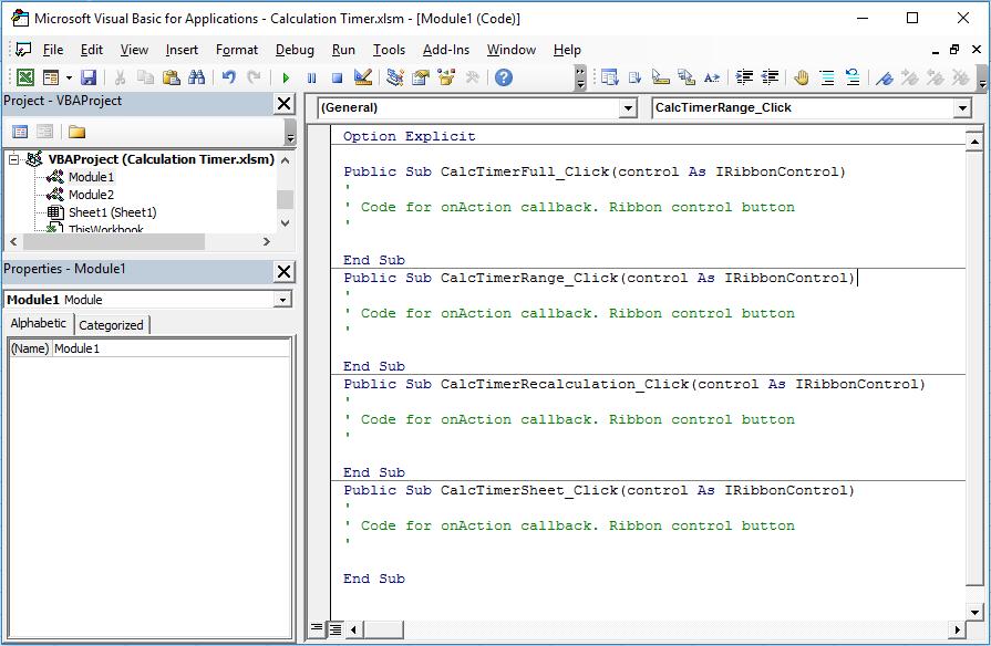 Ribbon Editor - Pasted VBA Code