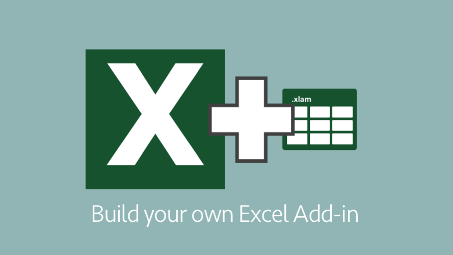 Build your own Excel Add-in