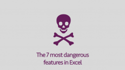Most dangerous Excel features