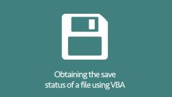 Save status of file using VBA