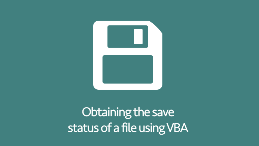 Save status of file using VBA