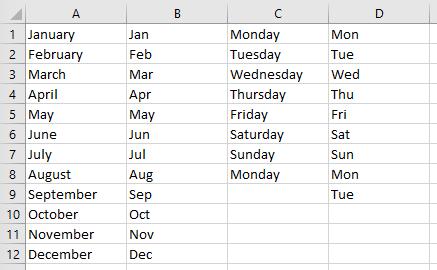 Custom List Standard Lists