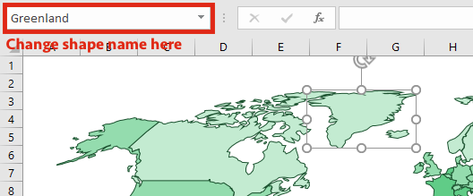 Map Chart - Change name of Country