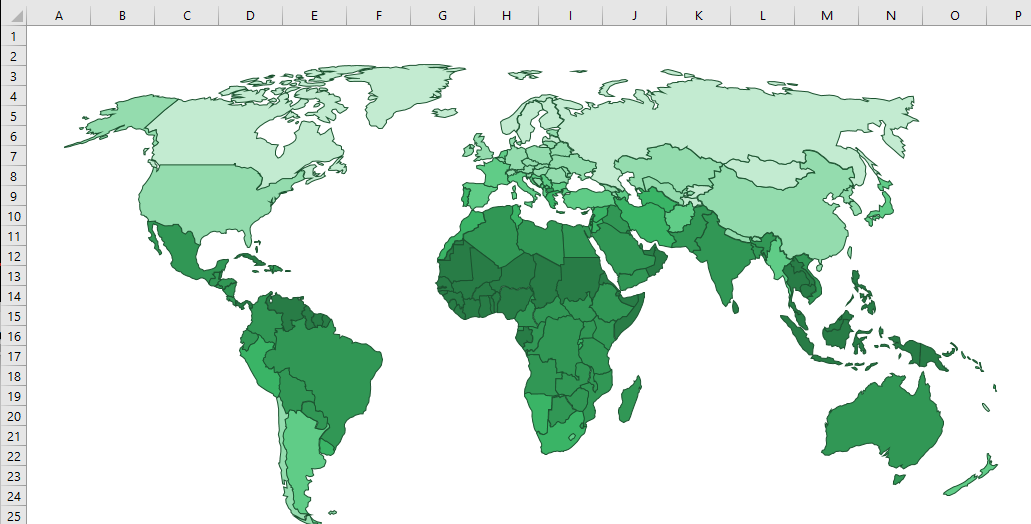 Creating custom map charts using shapes and vba excel off the grid map chart world map gumiabroncs Image collections