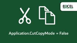 Application.CutCopyMode = False