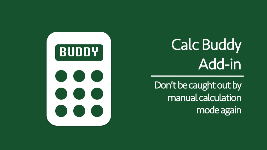 Calc Buddy Add-in