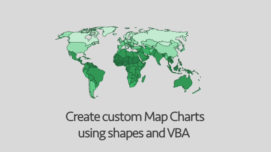 Creating custom Map Charts using shapes and VBA