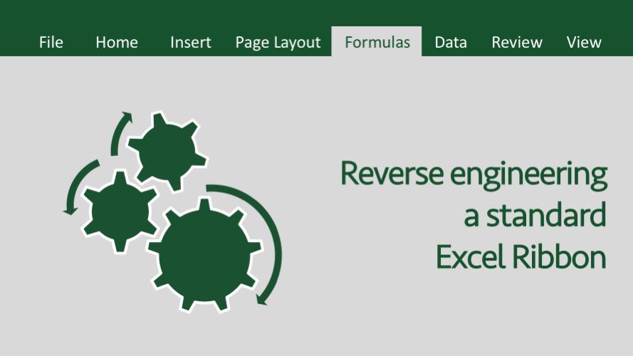 Reverse engineering a standard Excel Ribbon