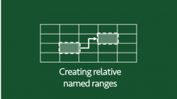 Creating relative named ranges