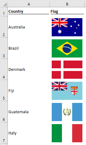 3 ways to change or insert images based cell values excel off the grid image lookup country list ccuart Choice Image